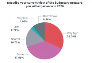Pie chart showing budgetary pressure expected during 2020